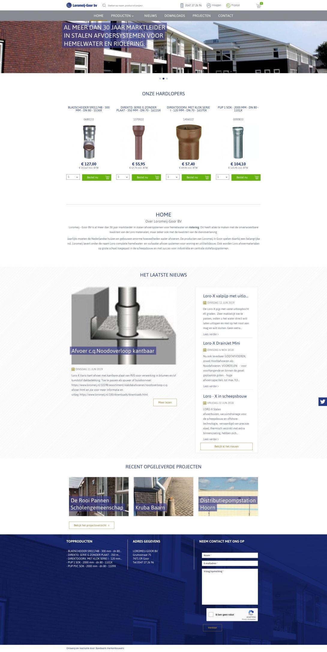 We bouwen graag aan het merk Loromeij-Goor bv