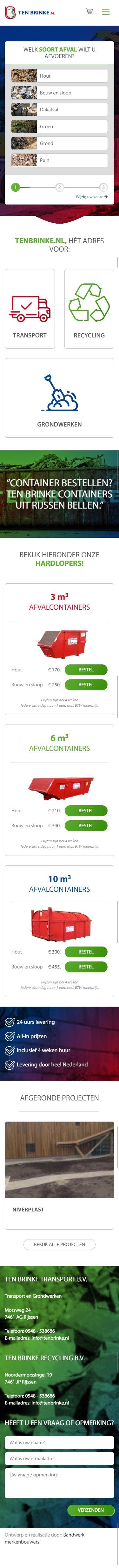 Een klant met merkwaarde: Ten Brinke Containers